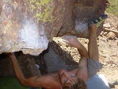 Rock Climbing Photo: Joe finding the beast within.