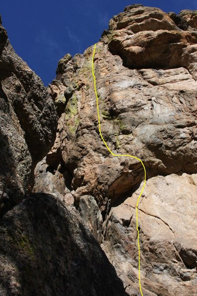 Rock Climbing Photo: A foreshortened view of VB showing all but the sta...