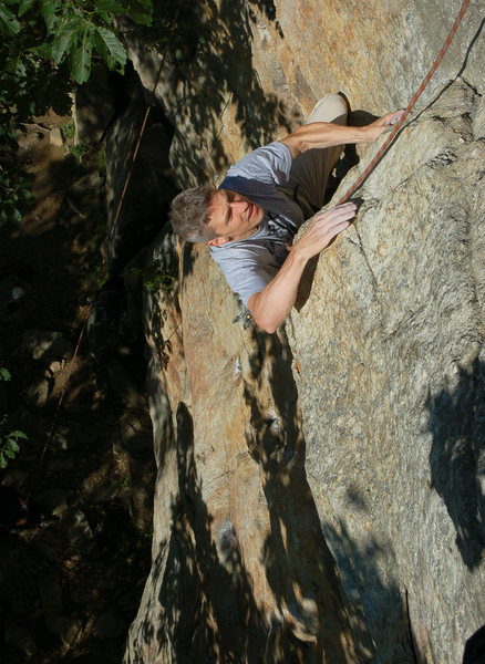 Rock Climbing Photo: Marc Gravatt nearing the top.