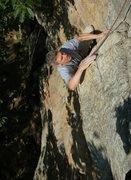 Rock Climbing Photo: Marc Gravatt nearing the top.