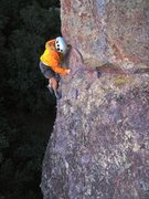 Rock Climbing Photo: Just past turning the corner and heading to the p1...