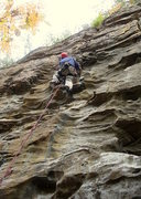 Rock Climbing Photo: Cruising through the jugs on Dynabolt Gold.  Photo...