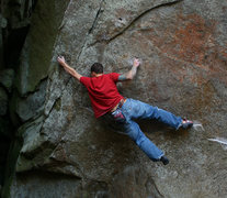 Rock Climbing Photo: pocket problem