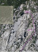 Rock Climbing Photo: Showing the walk off descent route from the summit...
