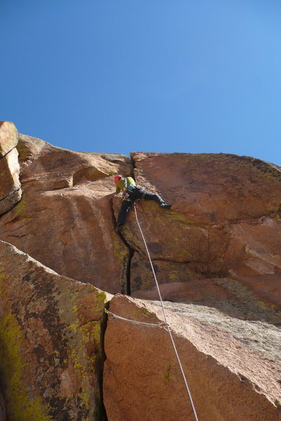 Rock Climbing Photo: Second pitch. Pure fun.