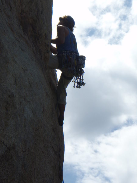 On the first pitch of the Hotline, Granite Mouuntain