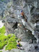 Rock Climbing Photo: past the technical crux, but the pump is just begi...