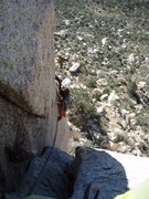 Rock Climbing Photo: Contemplating the airy step across from Cat's Paja...