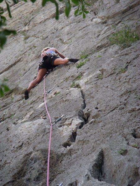 Rock Climbing Photo: I love stemming!