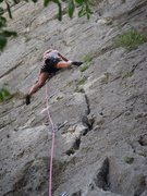 Rock Climbing Photo: I love stemming!