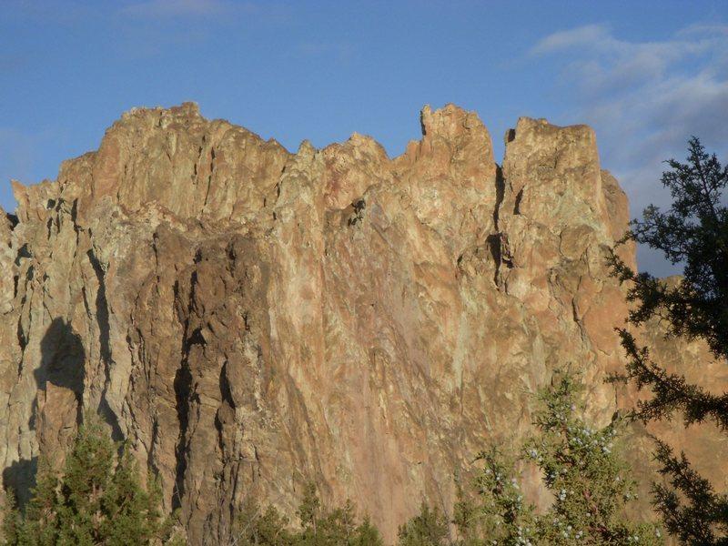 Smith Rocks in the sunrise