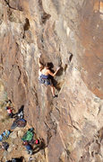 Rock Climbing Photo: Amy on what she calls the best 5.10 in the state. ...