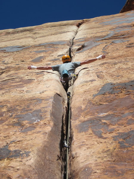 Rock Climbing Photo: look mom no hands
