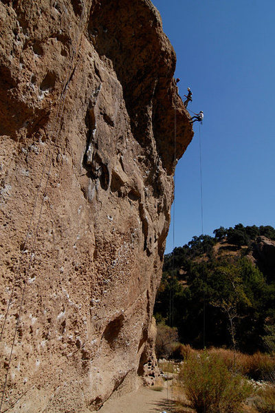 Rock Climbing Photo: Planet of the Apes Wall, Malibu Creek State Park, ...