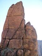 Rock Climbing Photo: Chicken Cordon Bulge follows the right angling cra...