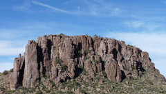 Rock Climbing Photo: East facing towers of the Glitter Box