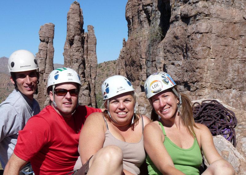 Trent, Brian, Lori & Marcy; Firstday summit shot