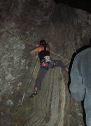 Rock Climbing Photo: climbing black jack via headlamp.