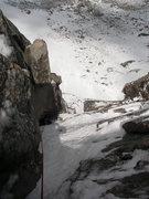 Rock Climbing Photo: Chris Thompson following the third pitch of Vanqui...
