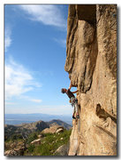 Rock Climbing Photo: Scotty Conners looks for his next move over the sm...