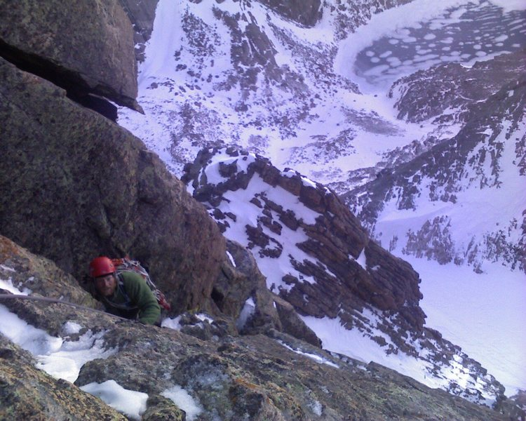 Rock Climbing Photo: Chris Reinholt following the third pitch of Zumie'...