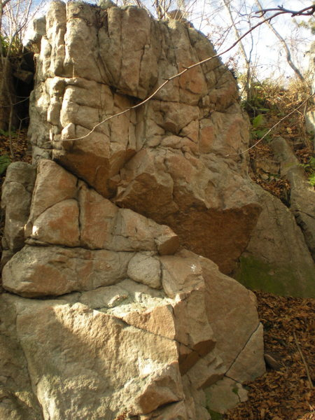 Rock Climbing Photo: I don't know if this was a route, but I knocked a ...