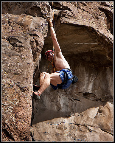 Rock Climbing Photo: Golden CO raw fich and rice 5.11a