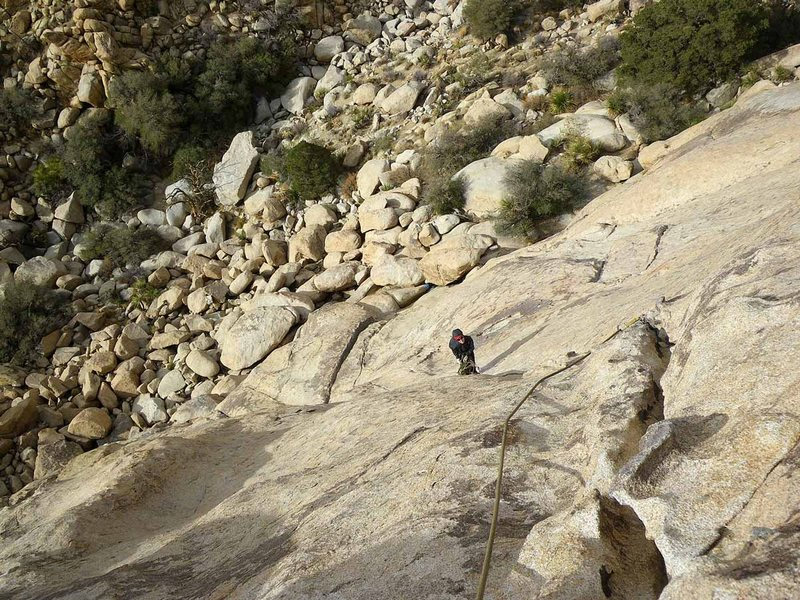 Looking Back at the First Belay