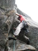 Rock Climbing Photo: Jeremy Haas leads up through the bottom alcove of ...