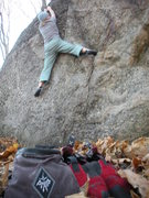 Rock Climbing Photo: Gear Promo on crimper. Girls do this climb too. ha...