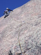 Rock Climbing Photo: Chuck Graves finds full value on second pitch of F...