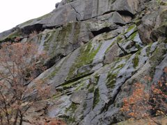 Rock Climbing Photo: The right leaning crack is the Arch with Forking C...