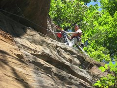 Rock Climbing Photo: Anchors on Cheaper Than A Movie
