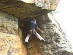 Rock Climbing Photo: The roof move on Vector Trouble