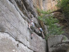 Rock Climbing Photo: This is the start of Back Door to Paris, right han...