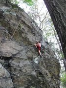 Rock Climbing Photo: Aaron on Rubber Factory (Mixed, 5.9+)