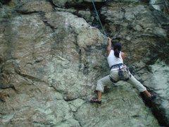 Rock Climbing Photo: Alex on 5.12 Trad Proj.