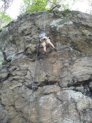 Rock Climbing Photo: Richard on Dave's 5.12 Trad Proj.