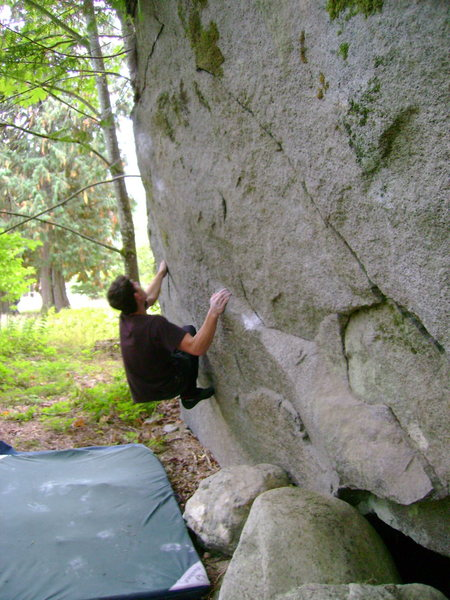 Rock Climbing Photo: Marc-Andre sending the Puzzler