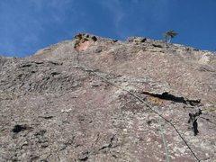 Rock Climbing Photo: P1 ... crux headwall.