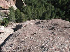 Rock Climbing Photo: View down P2.