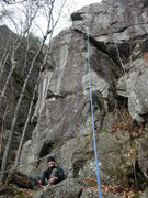 Rock Climbing Photo: My friend Trevor getting ready to climb.  This is ...