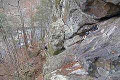 Rock Climbing Photo: Descent gully from upper trail
