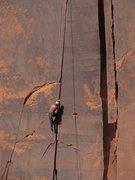 Rock Climbing Photo: About half way up Sorrow 11-.