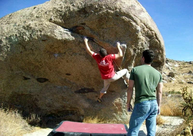 Rock Climbing Photo: v5 variation to Throw Up, I think its a better rou...