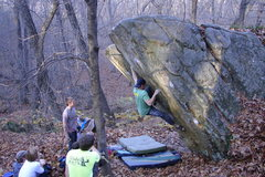 Rock Climbing Photo: R. Langlois staying strong.