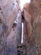 Rock Climbing Photo: Jeff following centipede corner