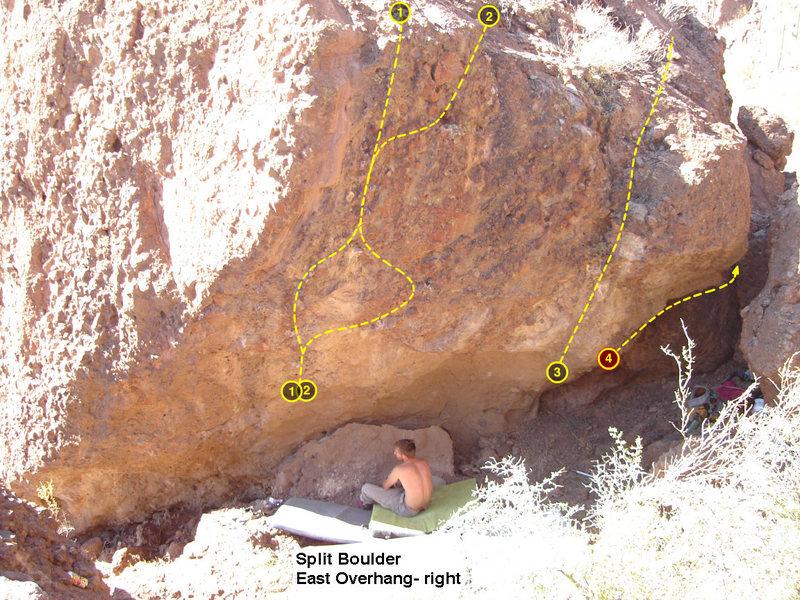 Rock Climbing Photo: Split Boulder Cigarette Machine Wall  1. Fair Trad...