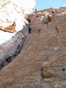 Rock Climbing Photo: Hanna rapping Blueberry
