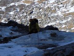 Rock Climbing Photo: Eric following pitch 3.